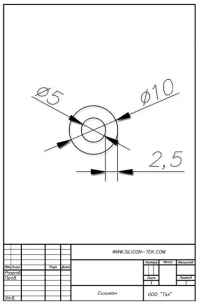 Трубка силиконовая ø10х5х2,5