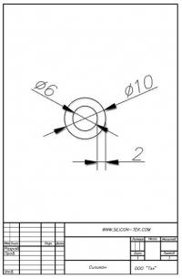 Трубка силиконовая ø10х6х2