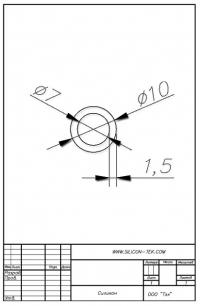 Трубка силиконовая ø10х7х1