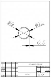 Трубка силиконовая ø10х9х0,5