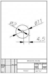 Трубка силиконовая ø11х2х4,5