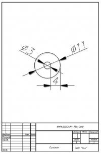 Трубка силиконовая ø11х3х4