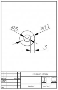 Трубка силиконовая ø11х5х3
