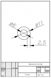 Трубка силиконовая ø11х6х2,5