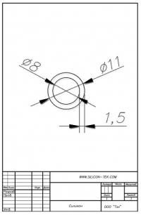 Трубка силиконовая ø11х8х1,5