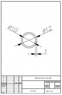 Трубка силиконовая ø12х10х1