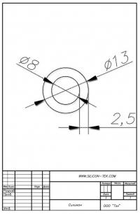 Трубка силиконовая ø13х8х2,5