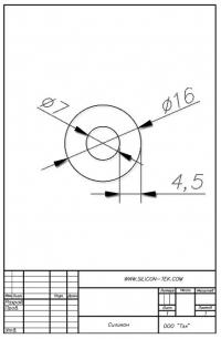 Трубка силиконовая ø16х7х4,5