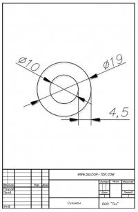 Трубка силиконовая ø19х10х4,5