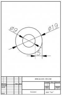 Трубка силиконовая ø19х9х5