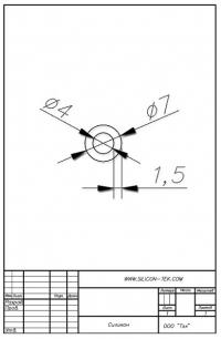 Трубка силиконовая ø7х4х1,5