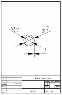 Трубка силиконовая ø7х5х1