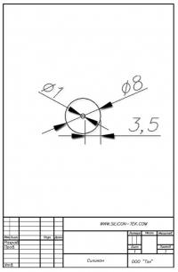 Трубка силиконовая ø8х1х3,5