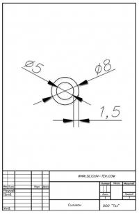 Трубка силиконовая ø8х5х1,5