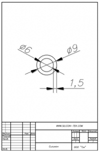 Трубка силиконовая ø9х6х1,5
