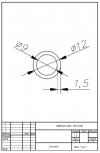 Трубка силиконовая ø12х9х1,5