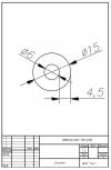Трубка силиконовая ø15х6х4,5