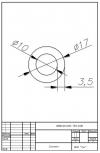 Трубка силиконовая ø17х10х3,5