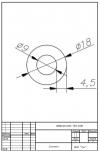 Трубка силиконовая ø18х9х4,5
